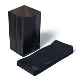 Пакет для рассады, 2 л, 10 × 25 см, толщина 60 мкм, с перфорацией, чёрный Ош