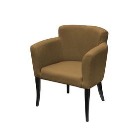Кресло «Неаполь», ткань китон, опоры венге, цвет охра