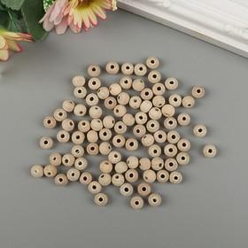 Бусины деревянные d=8 мм (набор 15 гр) без покрытия МИКС