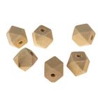 Бусины деревянные многогранники 12х12 мм (набор 6 шт) без покрытия