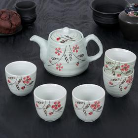 """Набор чайный """"Цветущая ветвь"""", 6 предметов: чайник 550 мл, 5 чашек 150 мл"""