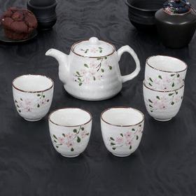 """Набор чайный """"Весна"""", 6 предметов: чайник 550 мл, 5 чашек 150 мл"""