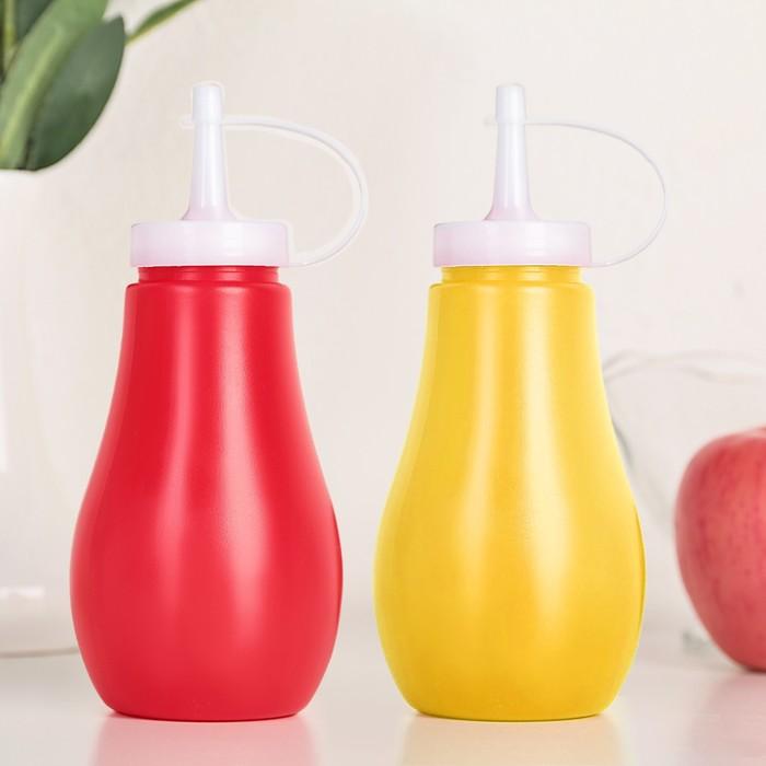 Набор ёмкостей для соусов 300 мл, 2 шт, цвет жёлтый и красный - фото 308066125
