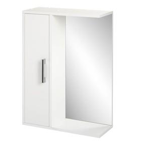 "Шкаф-зеркало ""Эко-50"" 20 х 50 х 70 см, белый левый"