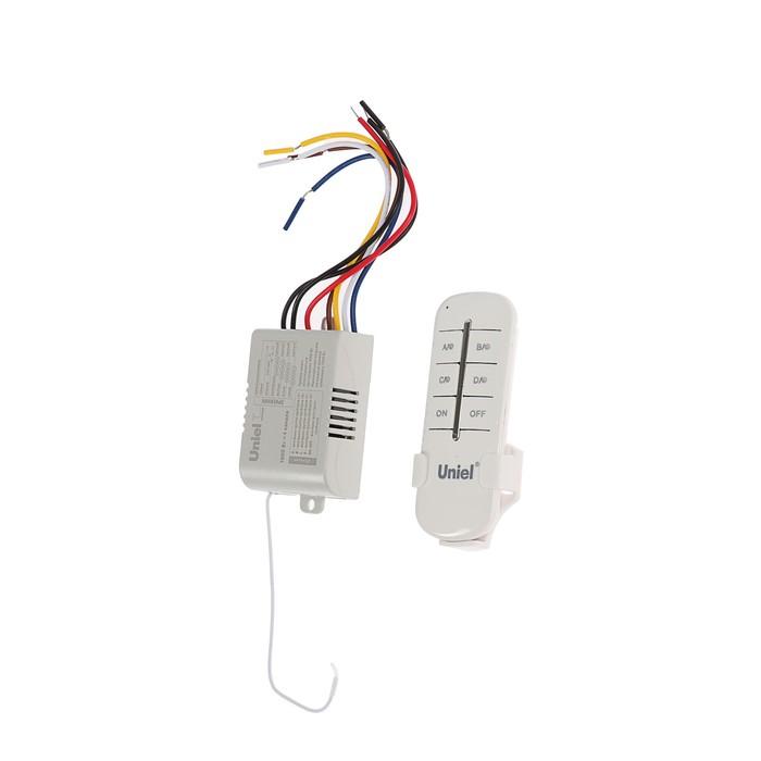 Пульт управления светом Uniel, 4 канала х 1000 Вт, радиус действия 30 м.