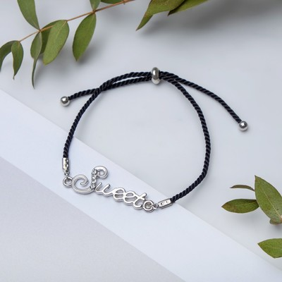 "Bracelet Assorti ""thread"" sweet, color black silver"