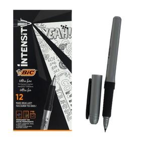 Перманентный маркер универсальный, тонкое письмо, резиновый клип, чёрный, BIC Marking Ultra Fine