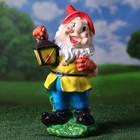 """Садовая фигура """"Гном с фонарём"""", разноцветный, 40 см - фото 308932127"""