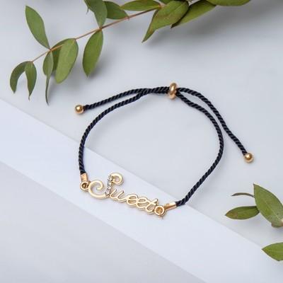 "Bracelet Assorti ""thread"" sweet, black gold"