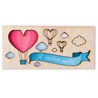 """Открытка деревянная """"Я люблю тебя"""" воздушные шары"""