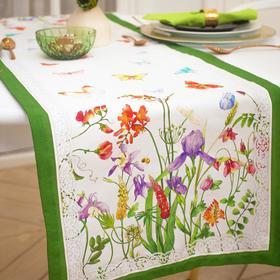 Дорожка на стол «Луговые цветы» 40*146 см