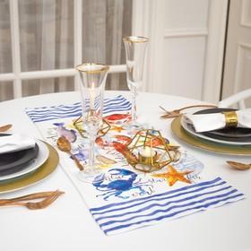 Дорожка на стол Этель «Морская» 30х70 см, 100% хл, саржа 190 гр/м2