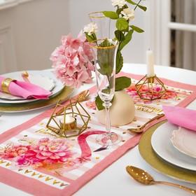 Дорожка на стол Этель «Фламинго» 30х70 см, 100% хл, саржа 190 гр/м2