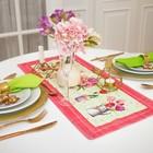 "Дорожка на стол ""Этель"" Тюльпаны  30х70 см, 100% хл, саржа 190 гр/м2"