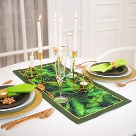 Дорожка на стол Этель «Тропики» 30х70 см, 100% хл, саржа 190 гр/м2