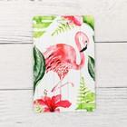 Чехол для бейджа и карточек «Фламинго», 6,8 х 10,5 см