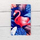 Чехол для бейджа и карточек «Фламинго в тропиках», 6,8 х 10,5 см