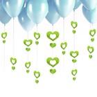 Гирлянда на шар «Сердечки», набор 100 шт., цвет салатовый - фото 308465945