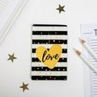 Чехол для бейджа и карточек Love, 6,8 х 10,5 см