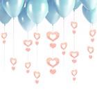 """Подвеска на шар """"Сердечки"""", цвет персиковый"""