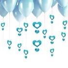 """Подвеска на шар """"Сердечки"""", цвет голубой"""