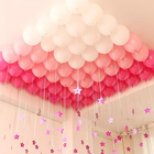 "Suspension ball ""Stars"", color pink"