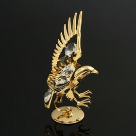 Сувенир «Орёл», на подставке, 10×5×8 см, с кристаллами Сваровски