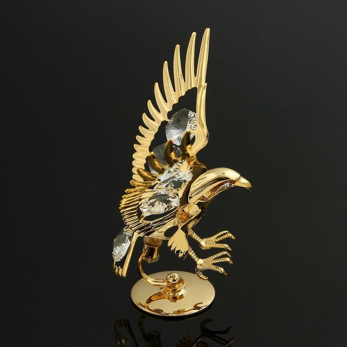 Сувенир «Орёл», на подставке, 10×5×8 см, с кристаллами Сваровски - фото 282122361