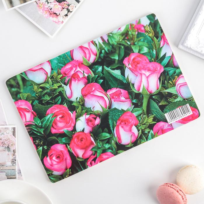 Доска разделочная «Розы», 25×16,5×0,8 см