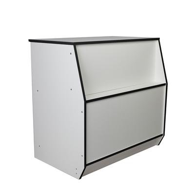 Прилавок рабочий 600*550*900мм, цвет белый с черной кромкой