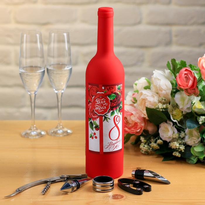 """Набор для вина """"8 Марта"""""""