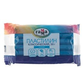 Пластилин 50 г, «Гамма» «Классический», синий