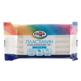 Пластилин 50 г, «Гамма» Классический, белый Ош