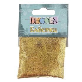 Декор блёстки ЗХК Decola 0.1 мм, 20 г, золото