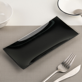 Dish 19x9 cm, black