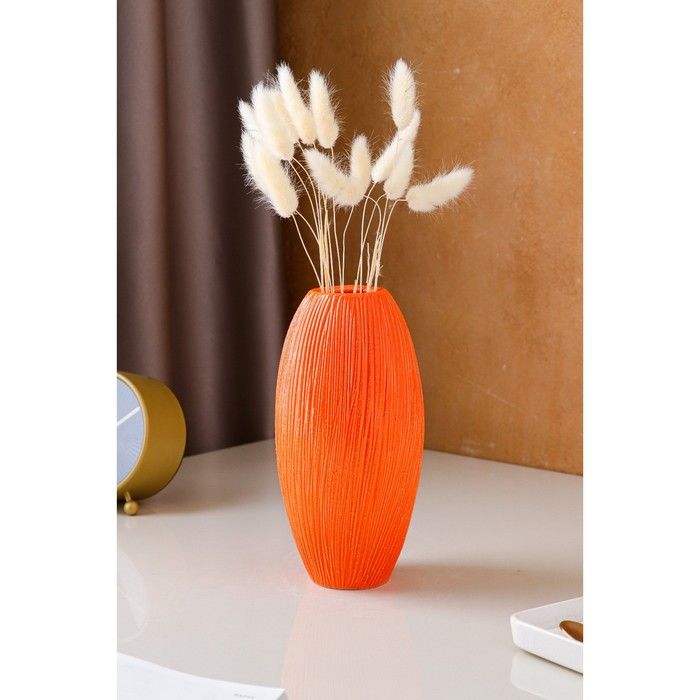 """Ваза настольная """"Евро"""", оранжевая, керамика, 22 см"""
