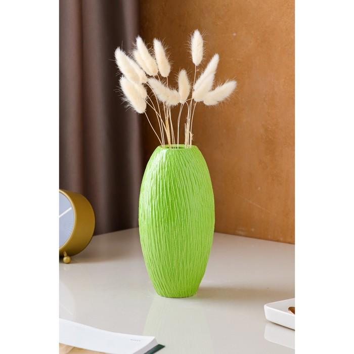 """Ваза настольная """"Евро"""", зелёная, керамика, 22 см"""