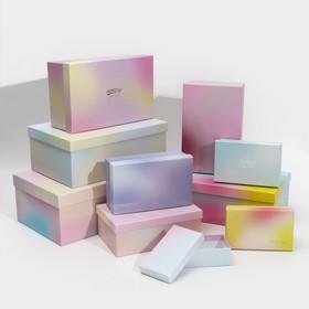Набор подарочных коробок 10 в 1 «Нежность», 12 х 7 х 4 - 32,5 х 20 х 12,5 см