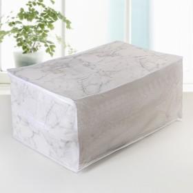 """Кофр для хранения вещей 60×45×30 см """"Мрамор"""", цвет белый"""