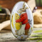 Box metal egg Easter Bunny 11,3x6,7x6 cm