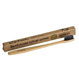 Бамбуковая зубная щетка Aasha с угольной щетиной, мягкая