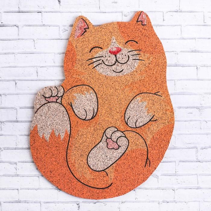 Органайзер настенный пробковый «Котик», 22.6 × 31 см