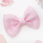 "Hair clip ""Air bow"" strips, pink"