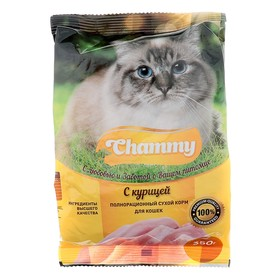 Сухой корм Chammy для кошек, курица, 350 г Ош
