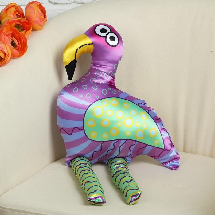 """Мягкая  игрушка """"Фламинго"""", фиолетовые полосы"""