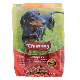 Сухой корм Chammy для собак мелких пород, мясное ассорти, 600 г Ош