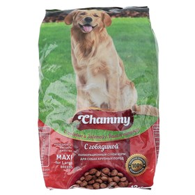 Сухой корм Chammy для собак крупных пород, говядина, 12 кг Ош