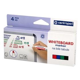 Набор скошенных маркеров для доски, 4 цвета, Centropen 8559, 5.0 мм, картонная упаковка с европодвесом
