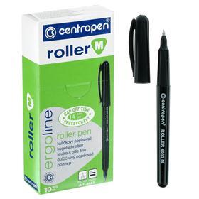 Ручка-роллер, 0.7 мм, Centropen 4665, одноразовая, черная, картонная упаковка