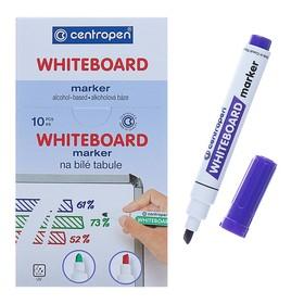 Маркер для доски, Centropen 8559, пулевидный, 1-4.5 мм, фиолетовый